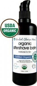 organic shaving products - aftershave balm
