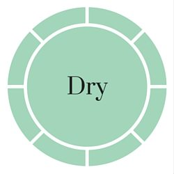 dry skin button