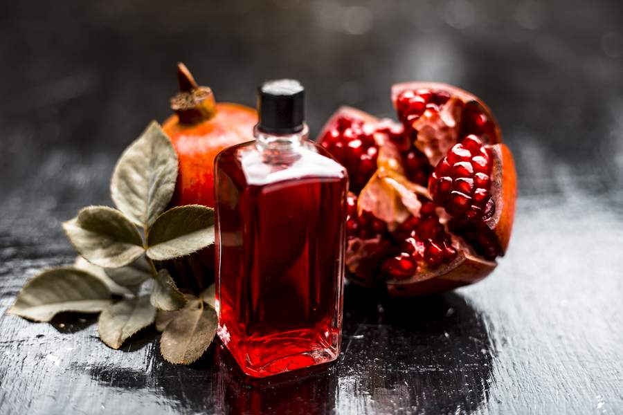 best natural oils for the skin - pomegranate