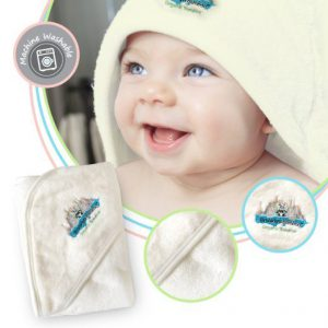 natural and organic baby gifts- hooded towel