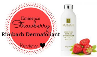 Eminence Strawberry Rhubarb Dermafoliant Review
