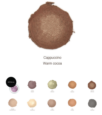 Alima Pure Eye shadow color choices