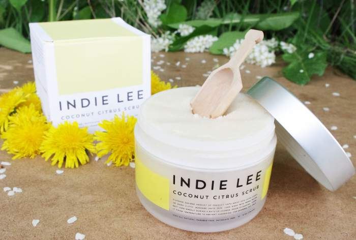 Indie Lee coconut citrus scrub review