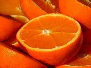 Oranges high in vitamin c for glycation of the skin