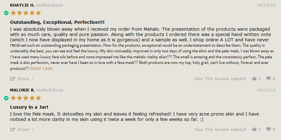 mahalo.care pele mask reviews