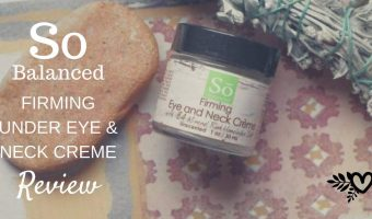 So Well Firming Under Eye and Neck Creme Review