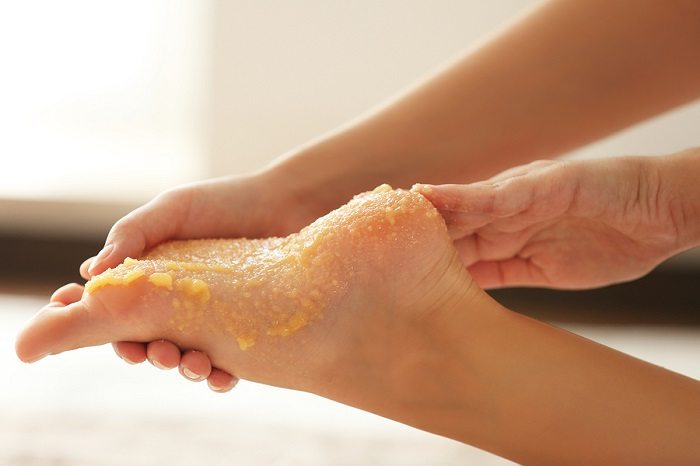 DIY foot scrub for aches and pain