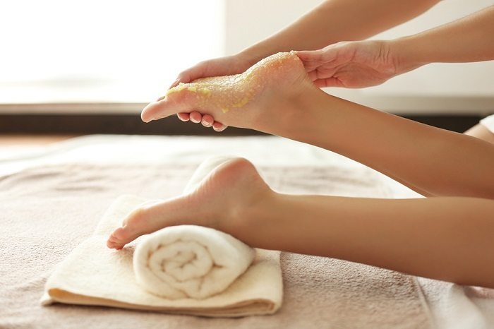 benefits of a foot scrub