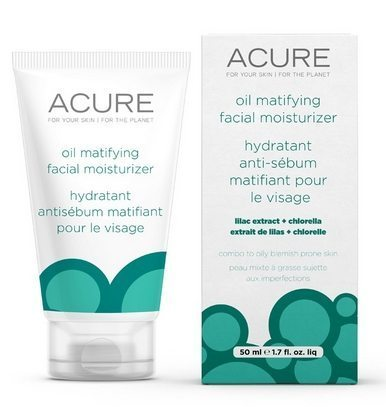 acure organics oil matifying facial moisturizer