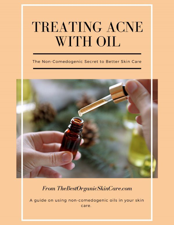 treating acne with oil cover