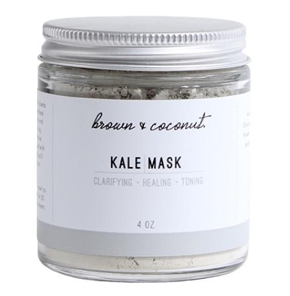 brown and coconut Kale Mask