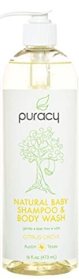 Puracy Organic baby shampoo and body wash