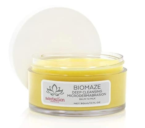Biomaze Microdermabrasion Balm to Milk Cleanser - best organic cleansing balms