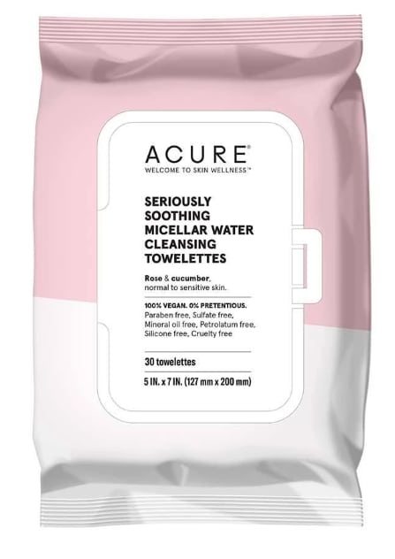 Acure Seriously Soothing Micellar Water Towelettes - best natural micellar water products