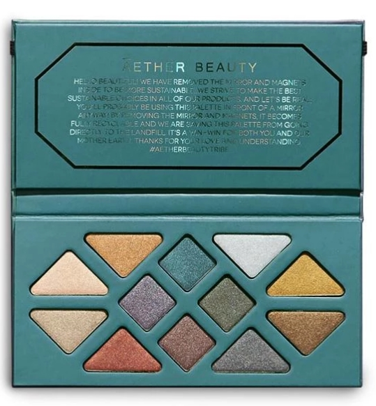 best organic eyeshadow palette - Aether Beauty Crystal Grid Gemstone Palette