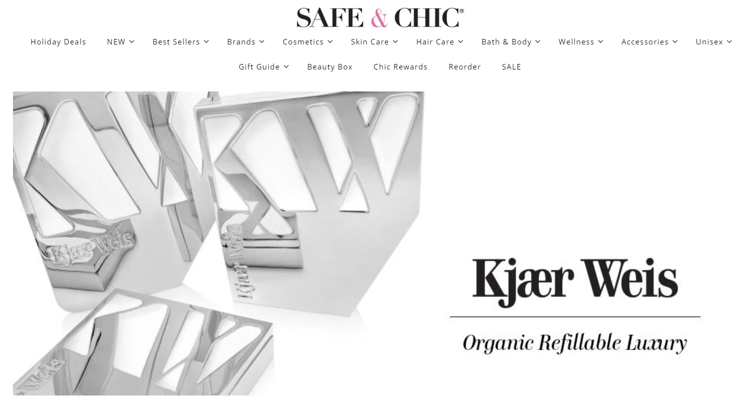 safe and chic organic skin care shop