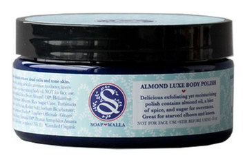 best organic body scrubs -Soapwalla Kitchen Almond Luxe Body Polish