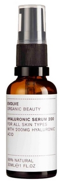 best organic wrinkle serums -Evolve Organic Beauty Hyaluronic Serum 200