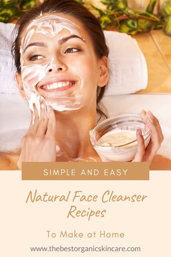 simple and easy natural face cleanser recipes to make at home