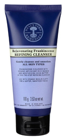 best organic facial cleansers for dry skin -Neals Yard Remedies Rejuvenating Frankincense Refining Cleanser