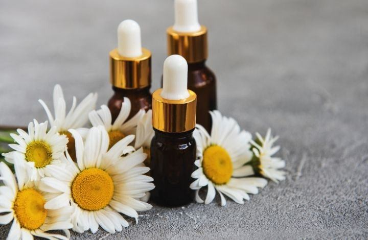 best essential oils for sensitive skin - chamomile